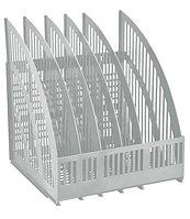Лоток LINE, Cборный вертикальный 5 отделений серый
