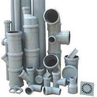 Система канализации из чугунных полиэтиленовых труб и труб ПВХ ПЭ 80 100