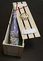 Упаковка для подарка деревянная коробка без крышки