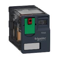 Реле 2 переключающих контакта, с индикатором, 12 А, 230 В пер. ток, 50/60 Hz