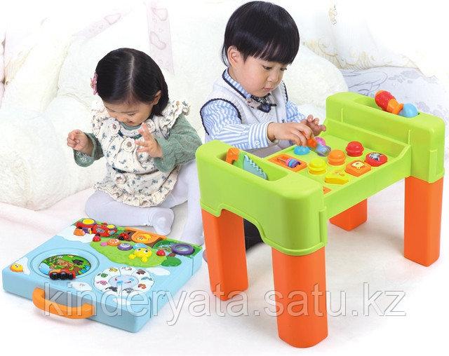 Детский интерактивный многофункциональный игровой столик 6 в 1