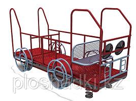 Детский комплекс машинка, с сидениями, металлический