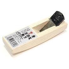 Рубанок яп. горбач с полукруглым ножом, 'Shiho Sori' 120/24мм, белый дуб