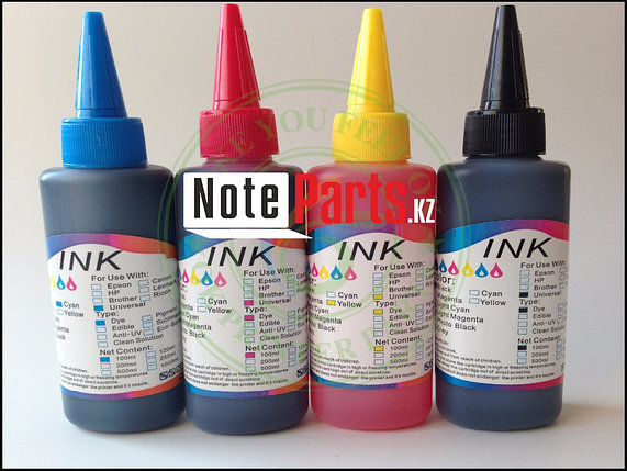 Чернила Комплект 4 цветов (BK,C,M,Y) 100ml (InkBank), фото 2