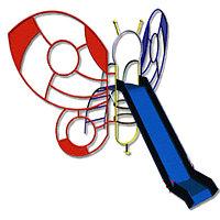 Комплекс детский с горкой, лестницей, лазалкой, бабочка