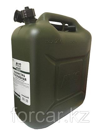 Канистра топливная пластик.20л.(тёмн.зелён.), фото 2