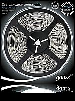Светодиодная лента Gauss 5050/30-SMD 7.2W 12V DC холодный белый (блистер 5м) , фото 1