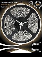 Светодиодная лента Gauss 3528/60-SMD 4.8W 12V DC теплый белый (блистер 5м), фото 1