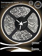 Светодиодная лента Gauss 5050/30-SMD 7.2W 12V DC теплый белый (блистер 5м) , фото 1