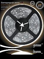 Светодиодная лента Gauss 5050/30-SMD 7.2W 12V DC теплый белый IP66 (блистер 5м), фото 1
