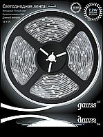 Светодиодная лента Gauss 5050/30-SMD 7.2W 12V DC холодный белый IP66 (блистер 5м) , фото 1