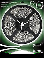 Светодиодная лента Gauss 3828/60-SMD 4.8W 12V DC зеленый свет (блистер 5м), фото 1