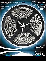 Светодиодная лента Gauss 3528/60-SMD 4.8W 12V DC синий свет (блистер 5м), фото 1