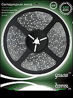 Светодиодная лента Gauss 3828/60-SMD 4.8W 12V DC зеленый свет IP66 (блистер 5м), фото 1