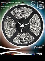 Светодиодная лента Gauss 5050/30-SMD 7.2W 12V DC RGB (блистер 5м), фото 1