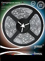 Светодиодная лента Gauss 5050/30-SMD 7.2W 12V DC RGB IP66 (блистер 5м)