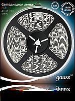 Светодиодная лента Gauss 5050/60-SMD 14.4W 12V DC RGB (блистер 5м), фото 1
