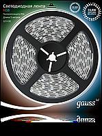 Светодиодная лента Gauss 5050/60-SMD 14.4W 12V DC RGB IP66 (блистер 5м), фото 1