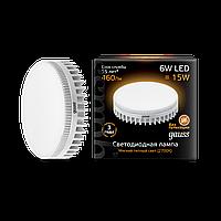 Светодиодная лампа Gauss LED SMD GX53 6W 2700K (теплый белый), фото 1