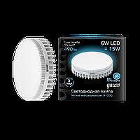 Светодиодная лампа Gauss LED SMD GX53 6W 4100K (холодный белый), фото 1
