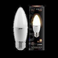 Светодиодная лампа свеча Gauss LED Candle E27  2700 К, фото 1