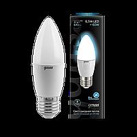 Светодиодная лампа свеча Gauss LED Candle E27  4100 К , фото 1