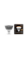 Светодиодная лампа софит Gauss LED MR16 5W GU5.3 AC/DC 12V 2700K FROST (теплый белый), фото 1