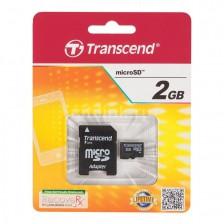 Карта памяти Transcend microSD 2Gb + SD adapter