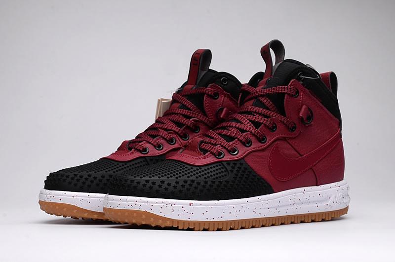 Зимние кроссовки Nike Lunar Force 1 Duckboot Red Black White (40-47)