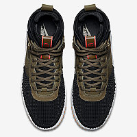Зимние кроссовки Nike Lunar Force 1 Duckboot Dark Loden/Bright Crimson (40-47), фото 2
