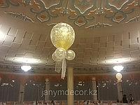 """Гелиевые шары """"шар в шаре"""" с лентой, фото 1"""