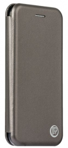 Кожаный чехол Open series на iPhone 7 (cерый)