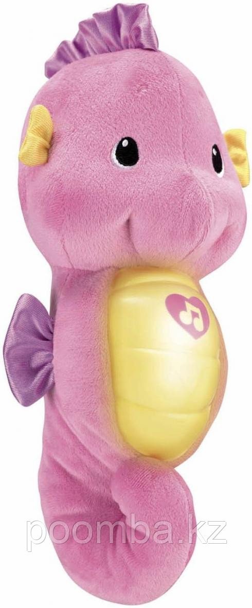 """Мягкая игрушка-ночник """"Морской конек"""" (свет, звук), розовый, 28 см"""