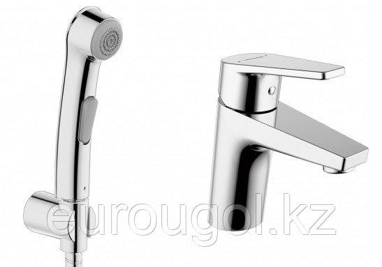 Смеситель для умывальника с гигиеническим душем BRAVAT LINE 7F15299C-2