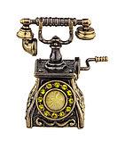 Колокольчик Антикварный телефон. Янтарь, стразы. Ручная работа. Калининград, фото 2