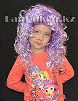 Парик двухцветный 55 см (фиолетово-белые локоны)