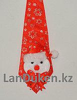Галстук новогодний для бутылок со снеговиком красный 22 см