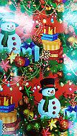 """Новогодняя бумага для упаковки подарков """"Снеговик"""", фото 1"""