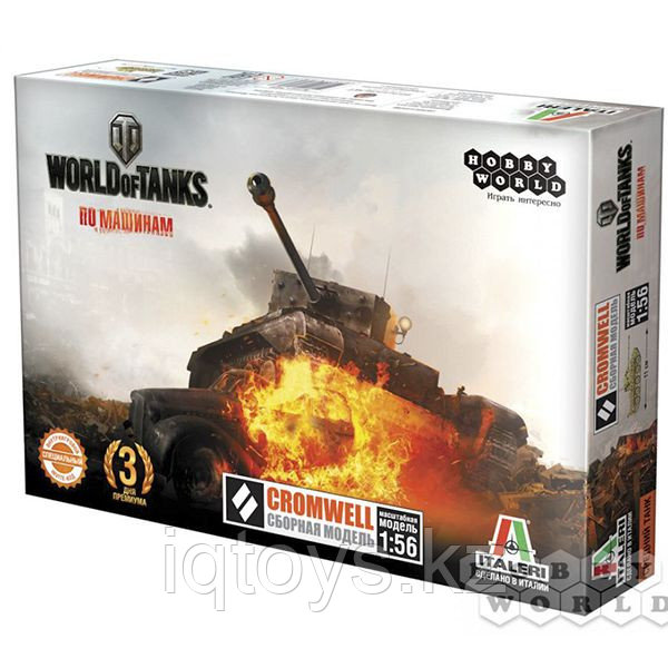 Сборная модель HOBBY WORLD 1628 World of Tanks. CROMWELL. Масштабная модель 1:56 - фото 1