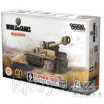 Сборная модель HOBBY WORLD 1630 World of Tanks. Pz.Kpfw.VI TIGER I. Масштабная модель 1:56