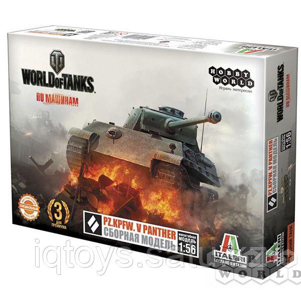 Сборная модель HOBBY WORLD 1629 World of Tanks.  Pz.Kpfw. V PANTHER  Масштабная модель 1:56