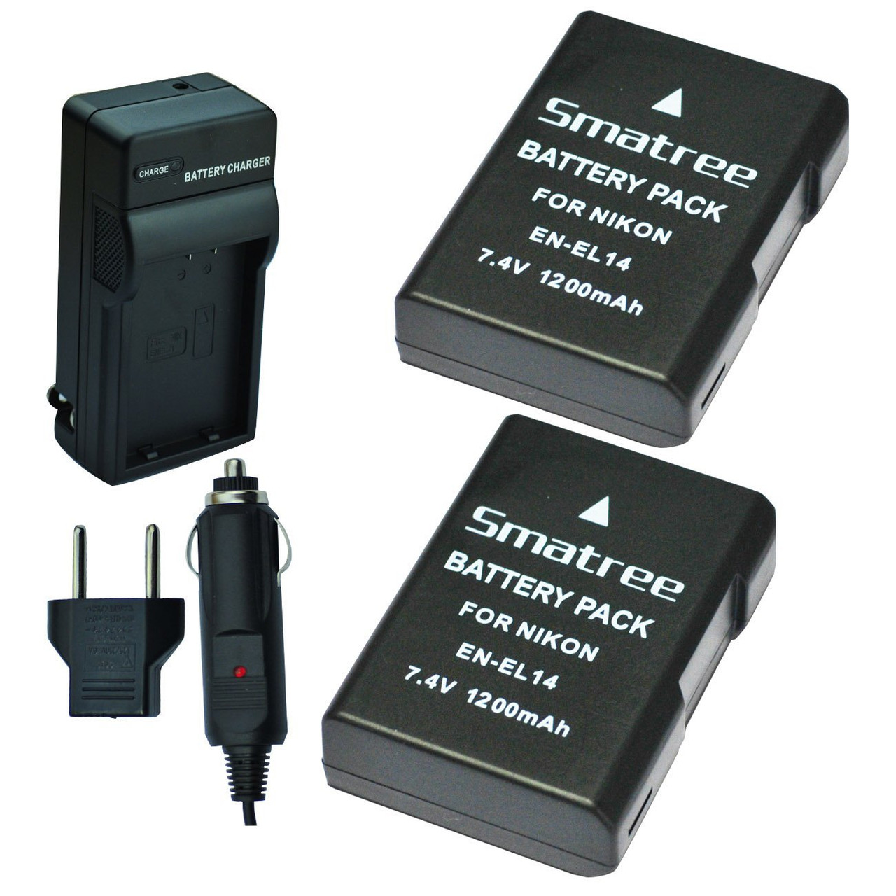 Smatree® Комплект аккумуляторов Nikon En-EL14