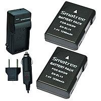 Smatree® Комплект аккумуляторов Nikon En-EL14, фото 1