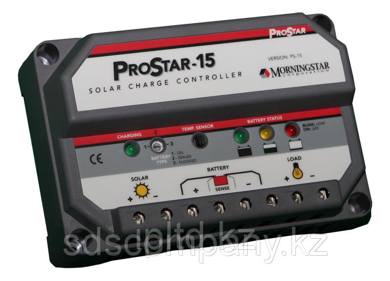 Контроллер заряда ProStar PWM 15 А, 12/24