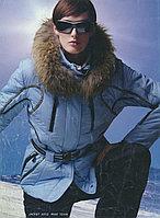 Костюм горнолыжный женский с опушкой из натурального меха