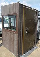 Охранная будка коричневого цвета 1,5*1,5*2,4