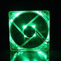 "Кулер для корпуса ""Cooler for Case 120 mm,1100±10%RPM/ 46CFM/20dB(A),0.2±0.02, Lights/светящийся/,Green  Oem"""