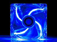 "Кулер для корпуса ""Cooler for Case 120 mm,1100±10%RPM/ 46CFM/20dB(A),0.2±0.02, Lights/светящийся/,Blue Oem"""