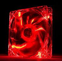 "Кулер для корпуса ""Cooler for Case 120 mm,1100±10%RPM/ 46CFM/20dB(A),0.2±0.02, Lights/светящийся/,Red Oem"""