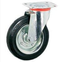 Резиновое колесо поворотное и неповоротное